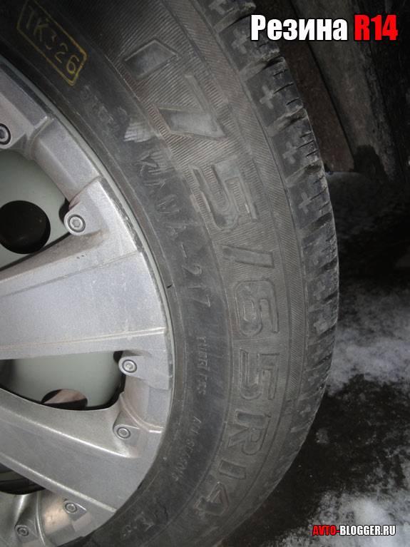 Размерность колес