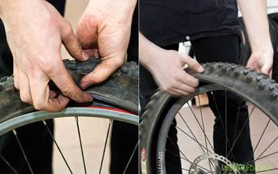 Как снять шину с колеса велосипеда