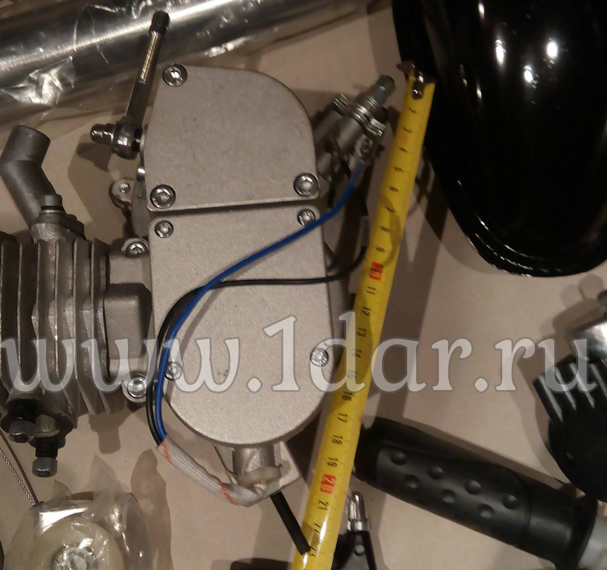 Размеры бензинового велодвигателя