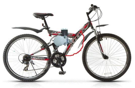Установка велодвигателя