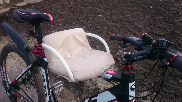 Сидушка на раму велосипеда для ребенка