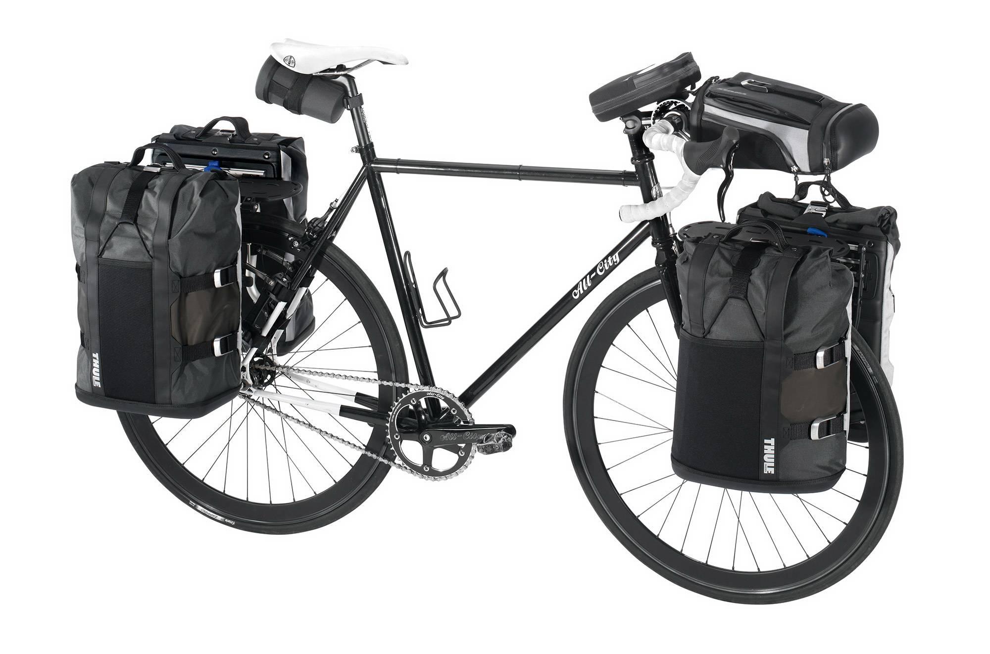 Расположение вещей в велопоходе