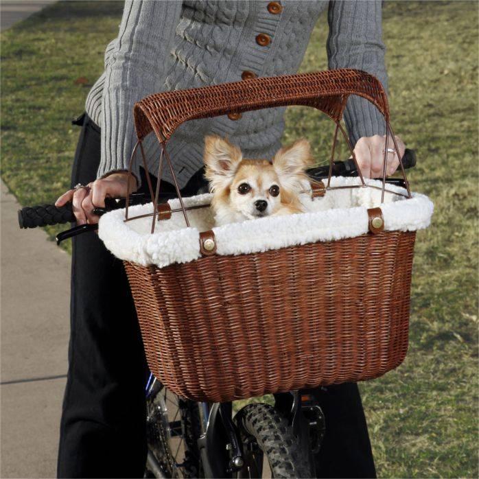 Корзина на велосипед для перевозки собак