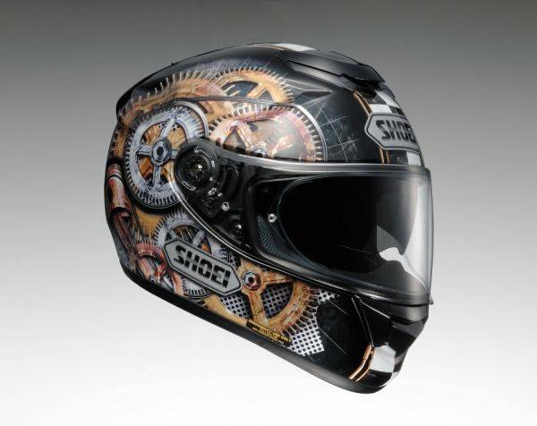 Мотоциклист в шлеме