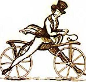 Изобретатель деревянного велосипеда