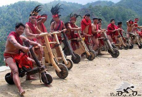Деревянный велосипед на Филиппинах