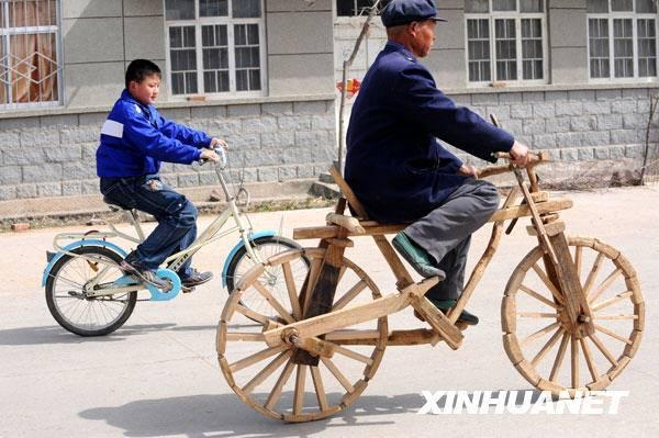 Деревянный велосипед Peijia Wu