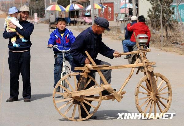 Китайский деревянный велосипед Peijia Wu