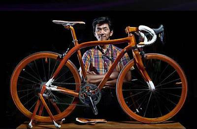 Sueshiro Sano и его деревянный велосипед
