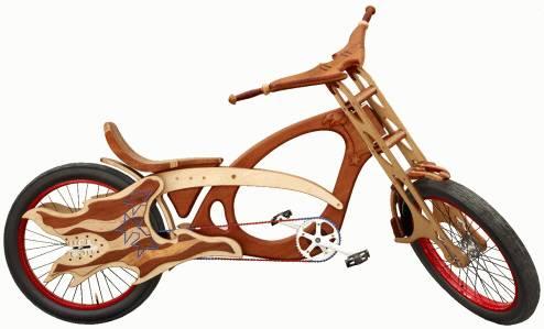 Деревянный велосипед Defender