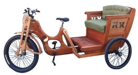 Деревянный велосипед Pedicab