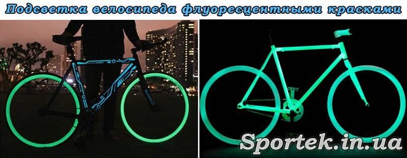 Подсветка колёс велосипеда