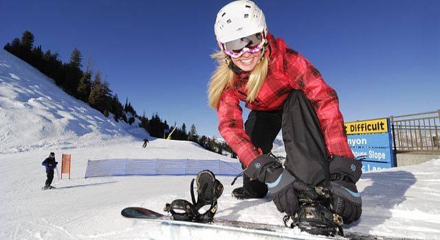Занятия сноубордом