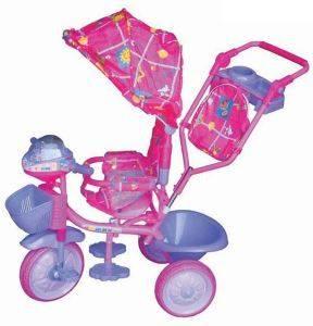 Велосипед с коляской для ребенка