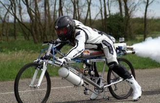 Максимальная скорость на велосипеде, рекорд