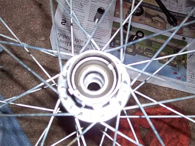 Разборка велосипедной втулки
