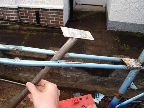 Установка дополнительной трубы на раму чоппера