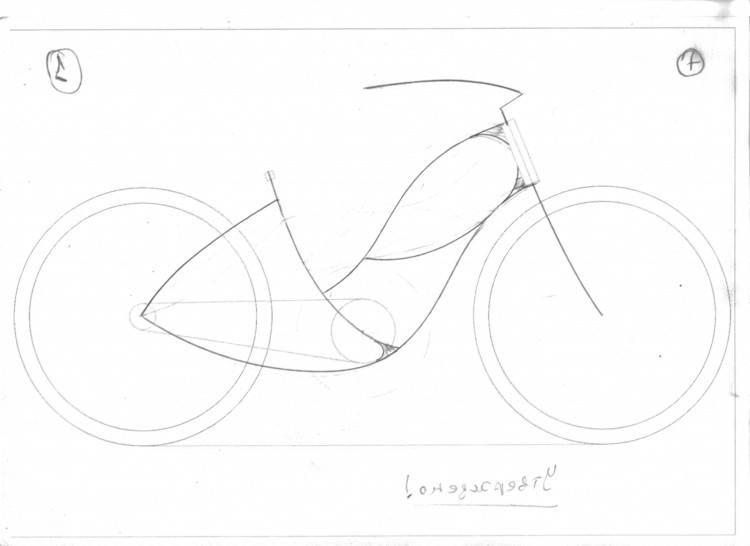 Эскиз рамы велосипеда