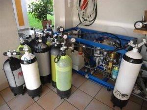 Как заправить акваланг в домашних условиях