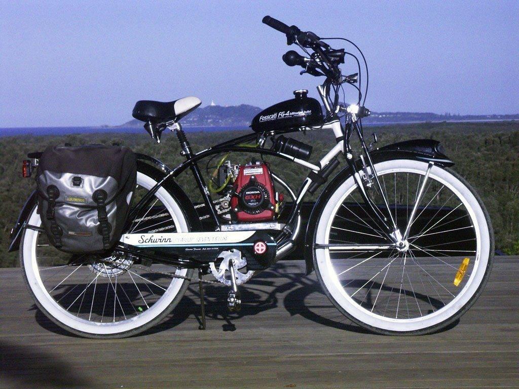 Бензиновый велосипед