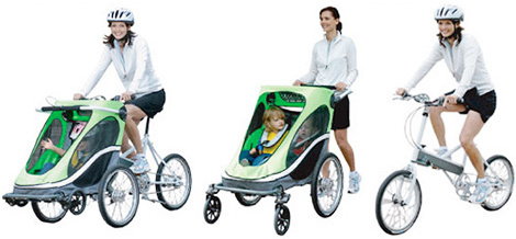 Коляска велосипед для мамы и ребенка