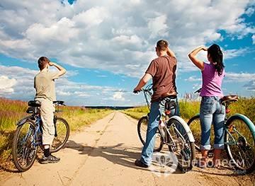 Сколько калорий сжигается при катании на велосипеде