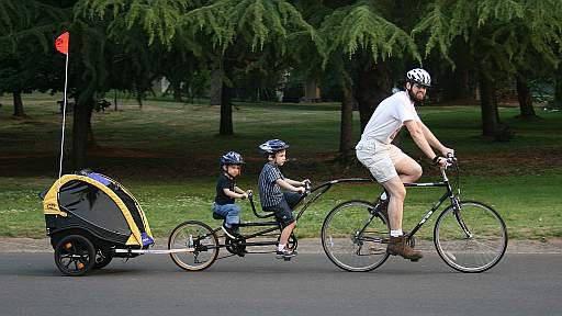 двухместный детский велосипед