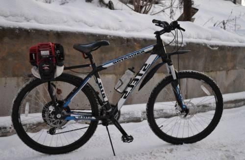 велосипед с мотором самодельный фото