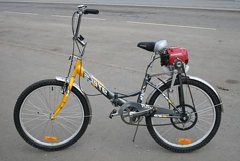 велосипед с мотором от бензопилы дружба фото