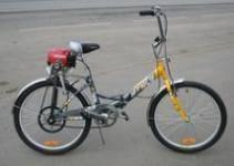 Как поставить мотор от бензопилы на велосипед