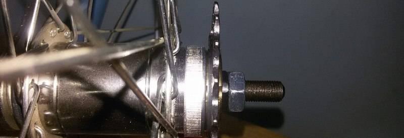 Схема задней втулки велосипеда