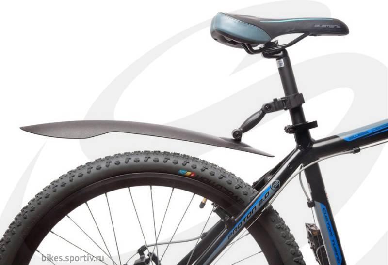 Установка крыльев на горный велосипед