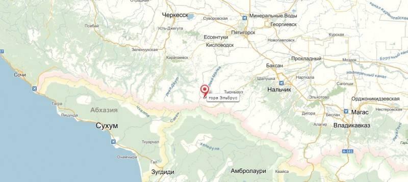 Горнолыжный курорт «Приэльбрусье» (Эльбрус) на карте