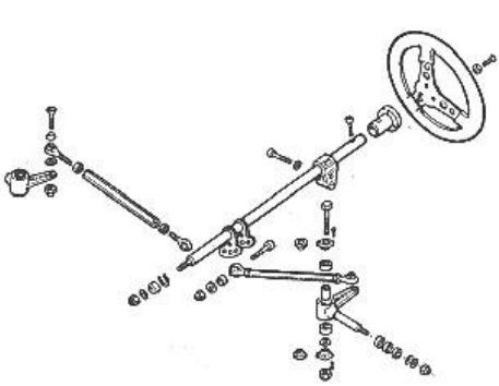 Схема привод руля картинга