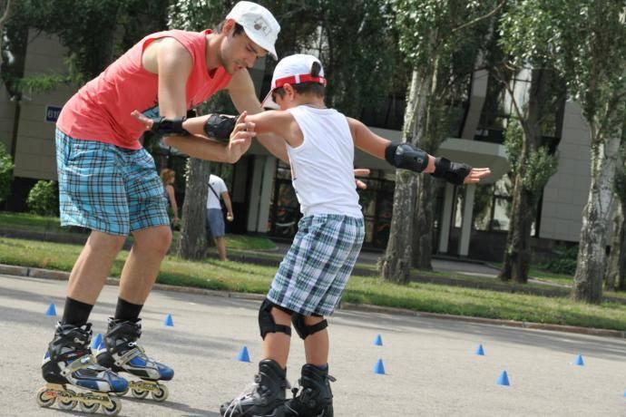Техника катания на роликовых коньках