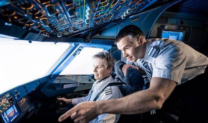 Обучение полетам на самолете