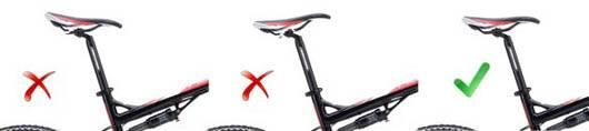 Правильное положение седла велосипеда