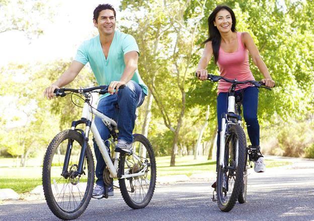 Сколько калорий при езде на велосипеде