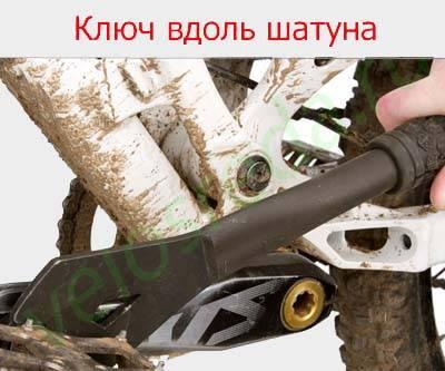 Разбор педалей велосипеда