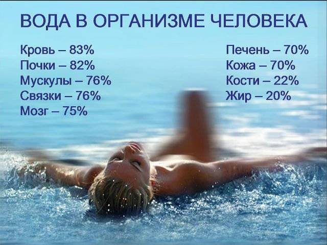Сколько человеку нужно воды в сутки