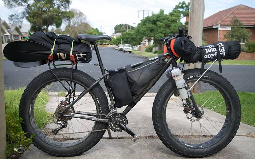 Самодельный багажник на велосипед