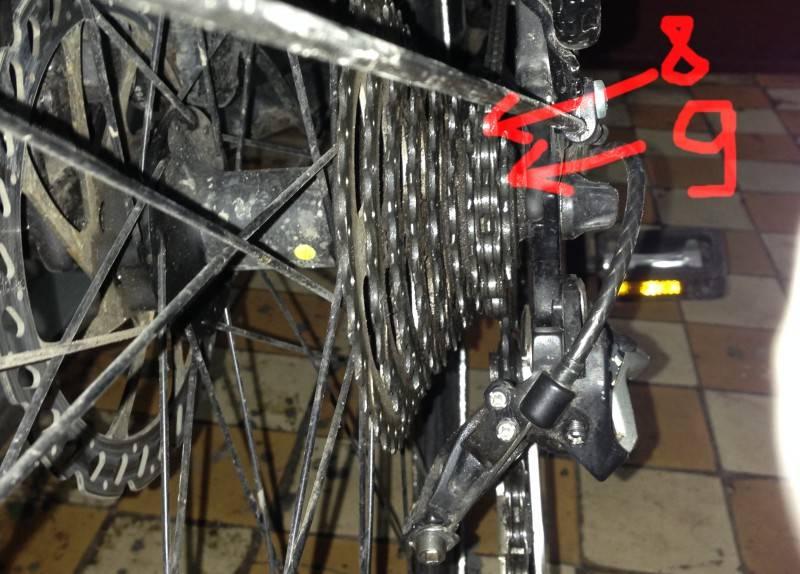 Настройка переключателя скоростей на велосипеде shimano