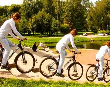На велосипеде по лестнице