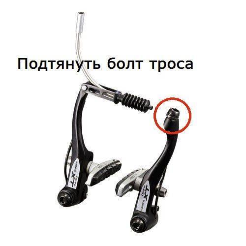 Как натянуть тросик тормоза на велосипеде