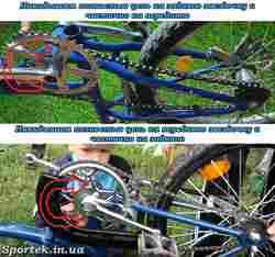 Как надеть цепь на скоростной велосипед