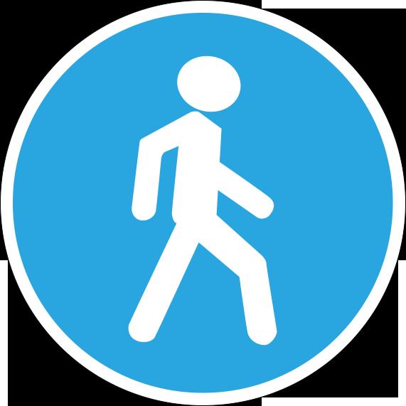 Дорожный знак велосипед