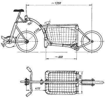 Прицеп на велосипед для детей