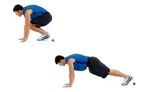 Упражнение для пресса скалолаз
