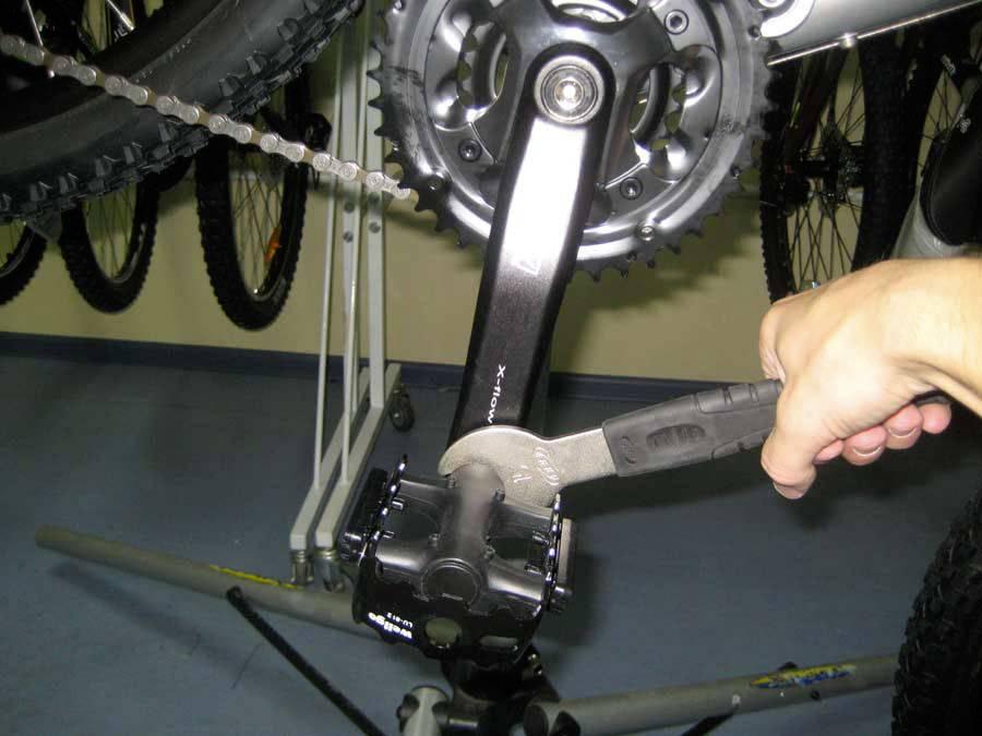 Педальный узел велосипеда