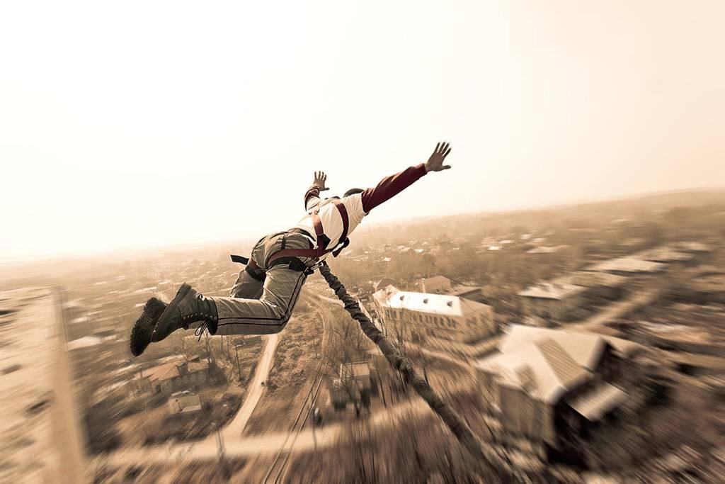 Прыжок с тросом